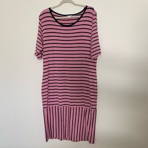 Lularoe Julia striped dress